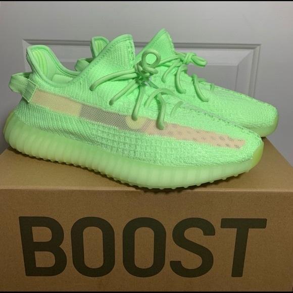more photos adc57 edc21 Adidas Yeezys Boost 350 Green Glow